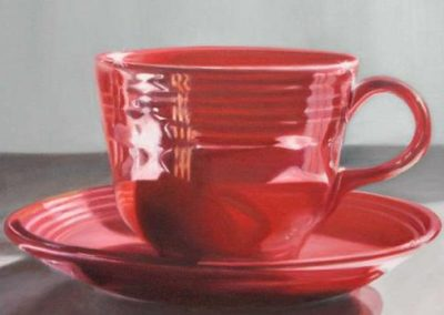 Little Red Cup and Saucer