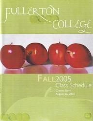 Fullerton College Class Schedule Fall 2005