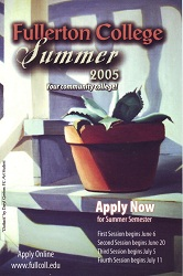 Fullerton College Class Schedule Summer 2005