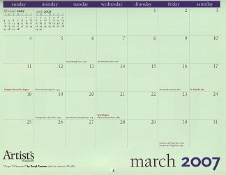 The Artist's Magazine 2007 Calendar March