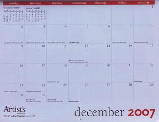The Artist's Magazine 2007 Calendar December